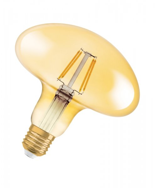 OSRAM VINTAGE 1906 LED MUSHROOM 40 Filament Gold Warm White E27
