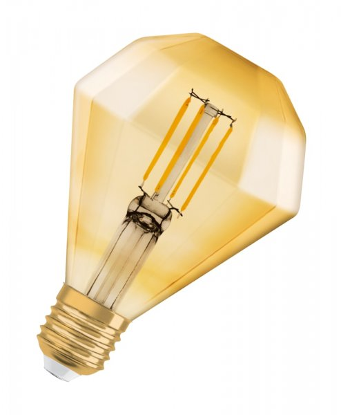 OSRAM VINTAGE 1906 LED DIAMOND 40 Filament Gold Warm White E27