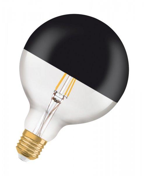 OSRAM VINTAGE 1906 LED GLOBE MIRROR BLACK 125 52 Filament Gold Warm White E27