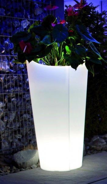 Epstein Pflanzgefäß TULPE 100 cm kaltweiß beleuchtet