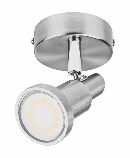 OSRAM LED SPOT Deckenleuchte Durchmesser 8 cm Nickel gebürstet 1-Flammig GU10