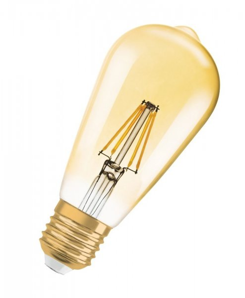 OSRAM VINTAGE 1906 LED EDISON 21 Filament Gold Warm White E27