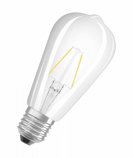 OSRAM LED STAR CLASSIC ST64 25 Filament klar Warm White E27 Edison