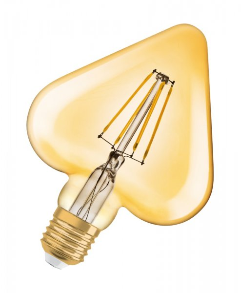 OSRAM VINTAGE 1906 LED HEART 40 Filament Gold Warm White E27