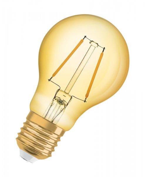 OSRAM VINTAGE 1906 LED CLASSIC A 13 Filament Gold Warm White E27
