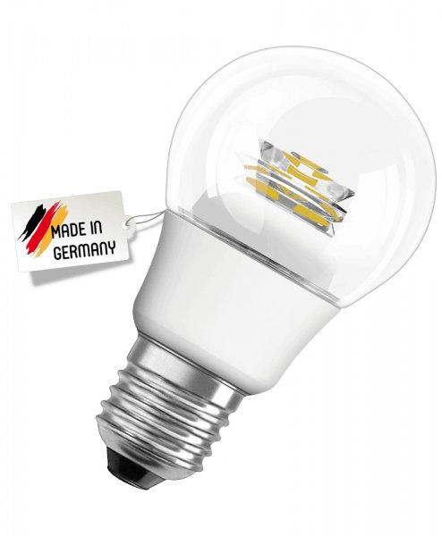 OSRAM LED STAR CLASSIC A 40 MADE IN GERMANY klar Warm White E27