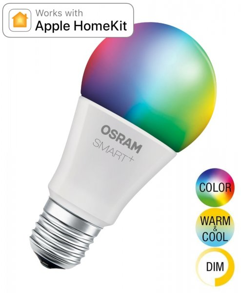 OSRAM SMART+ CLASSIC A 60 Multicolor (kompatibel mit Apple HomeKit) E27