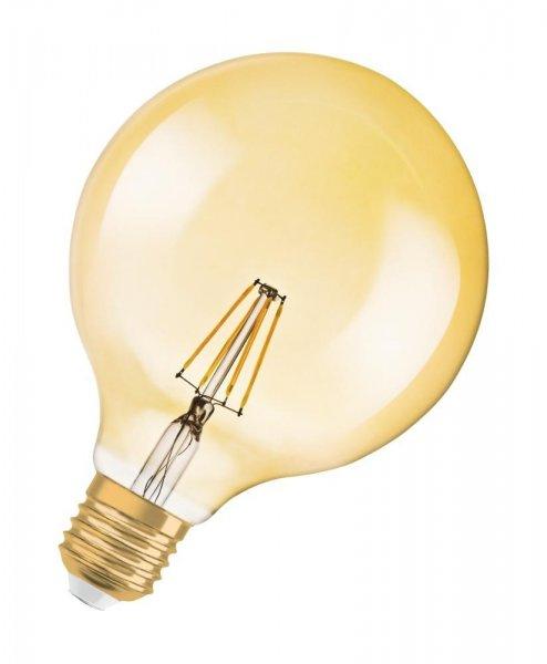 OSRAM VINTAGE 1906 LED GLOBE 125 51 Dimmable Filament Gold Warm White E27