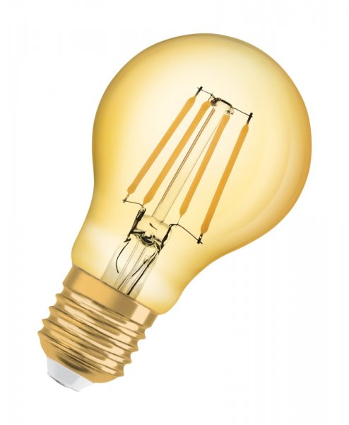 OSRAM VINTAGE 1906 LED CLASSIC A 68 Filament Gold Warm White E27