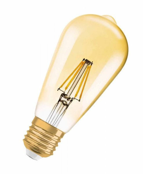 OSRAM VINTAGE 1906 LED EDISON 35 Filament Gold Warm White E27