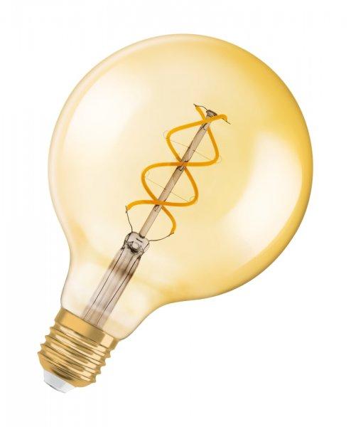 OSRAM VINTAGE 1906 LED GLOBE SPIRAL 125 25 Filament Gold Warm White E27