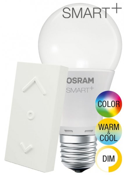 OSRAM SMART+ COLOR KIT CLASSIC A 60 E27 + SWITCH MINI Funktaster